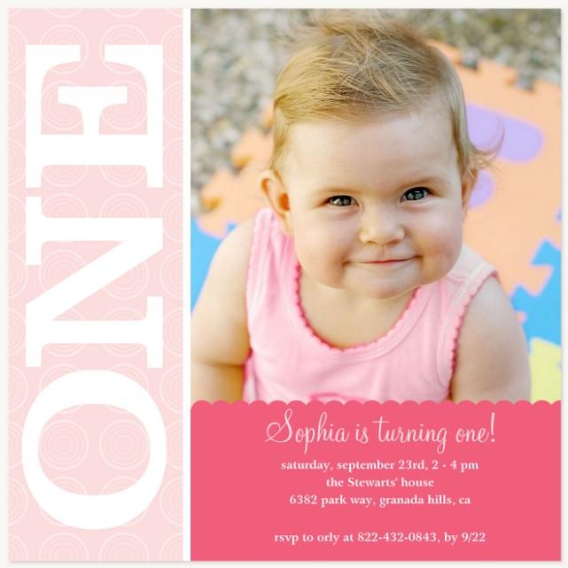 The Sweetest One Kids Birthday Invitations