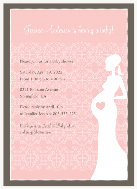 Blooming Heart Baby Shower Invites