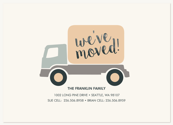Moving Truck Moving Announcements