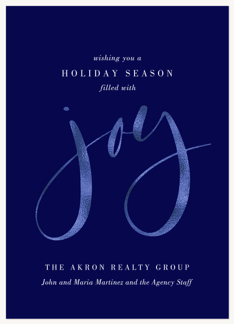 Shimmering Joy Business Holiday Cards