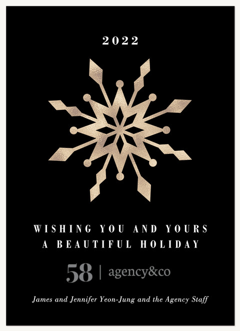 Crystal Snowflake Business Holiday Cards