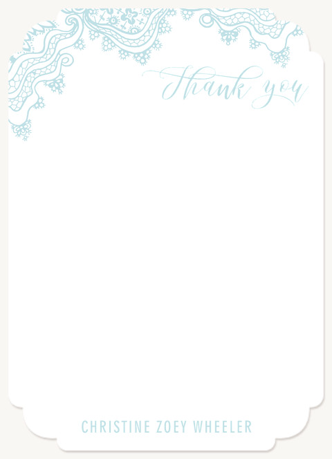 Vintage Lace Thank You Cards