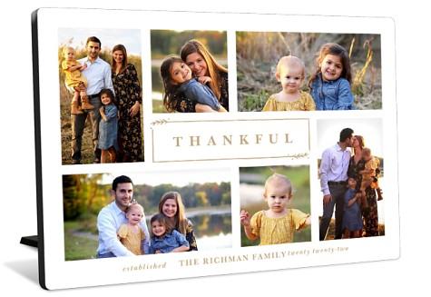 Grateful Harvest Tabletop Photo Panel