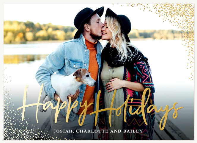 Holiday Sparkle Personalized Holiday Cards