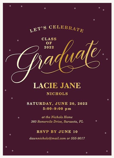 Gilded Confetti Graduation