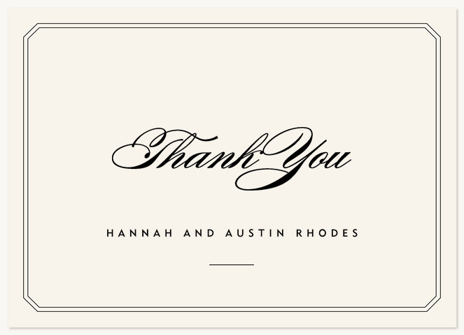 Center Stage Thank You Cards