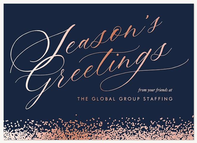 Snowfall Greetings Business Holiday Cards