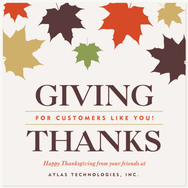 Thankful Leaves Business Holiday Cards