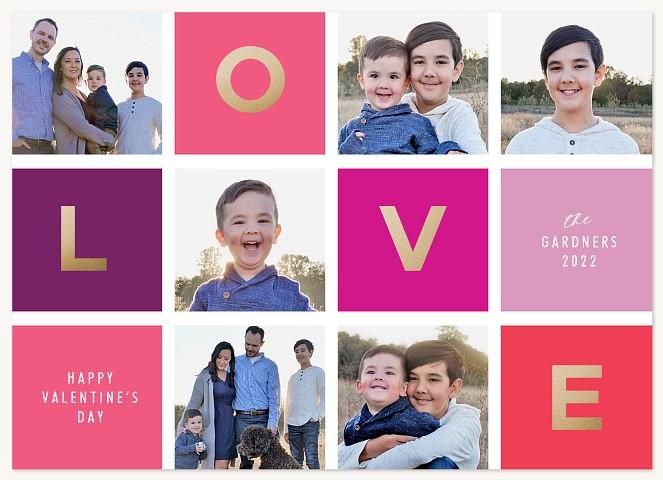 Love Grid Valentines Cards
